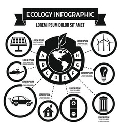 Ecology infographic concept simple style vector