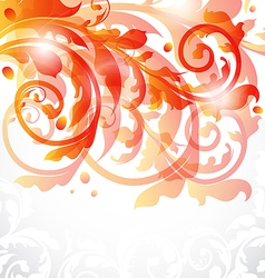 Floral ornamental card autumn background vector image vector image