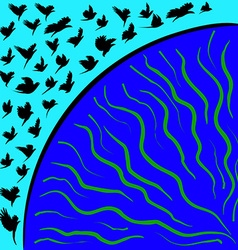 Flying Bird vector image vector image