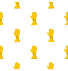 Golden baseball glove trophy pattern seamless vector