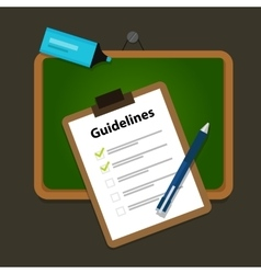 Guidelines business guide standard document vector