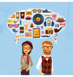 Hipster Speech Bubble vector image vector image