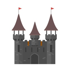 Medieval castle with towers - walled town vector image