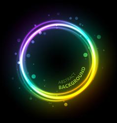 Neon gradient circle background vector