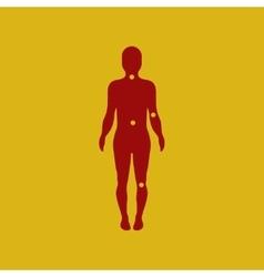 Osteoarthritis points on body vector