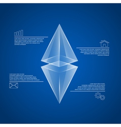 pyramids infographic vector image