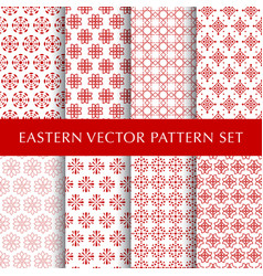set of eastern abstract symbol patterns vector image vector image
