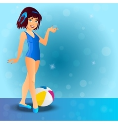 sexy girl wearing swimsuit vector image