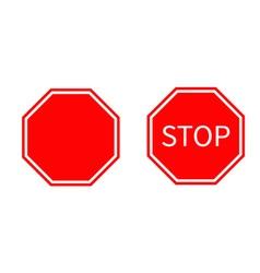 Stop traffic warning road sign set Prohibition no vector image vector image