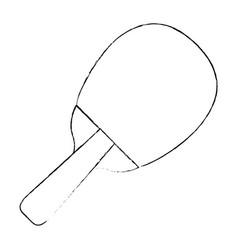 table tennis racket vector image