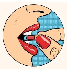 Taking the pill medication vector
