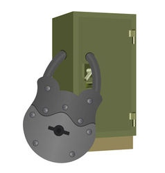 The lock on the safe vector
