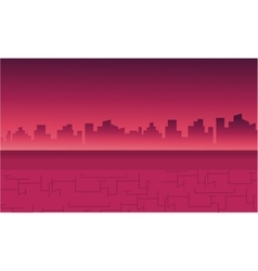 Landscape city for backrgounds game vector