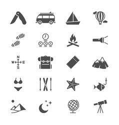 Traveling flat icons vector