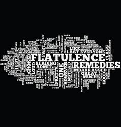 Flatulence remedies text background word cloud vector