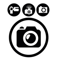 camera icons vector image