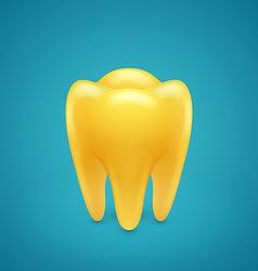Gold human teeth vector image