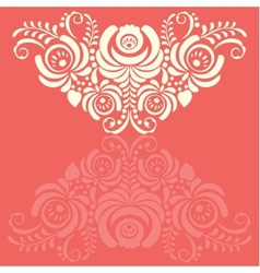 Ornate background in traditional russian style vector