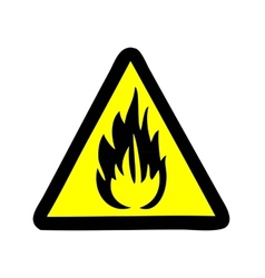 Fire symbol sign vector