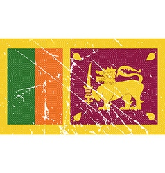 Flag of sri lanka with old texture vector