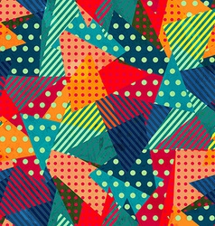 Bright cloth seamless pattern with grunge effect vector