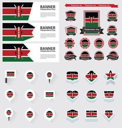 Set kenya vector