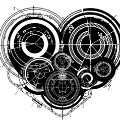 heart mechanisms vector image