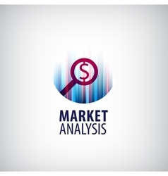 Market analysis logo icon research vector
