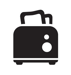 Black toaster icon vector