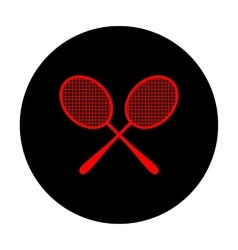 Tennis racquets icon vector