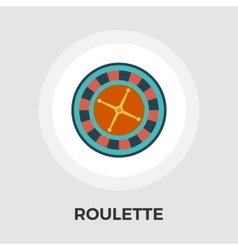 Roulette flat icon vector