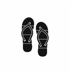 Summer slippers for beach icon simple style vector