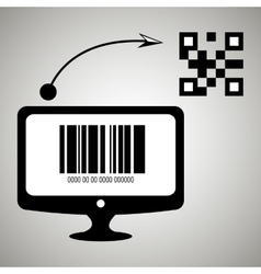 Product identification code design vector