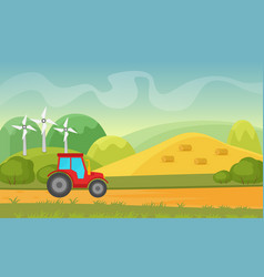 Agriculture and farming agribusiness summer vector