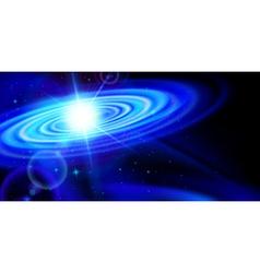 Blue galaxy vector