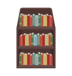 Bookcase icon in cartoon style isolated on white vector