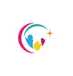 community care logo template icon vector image