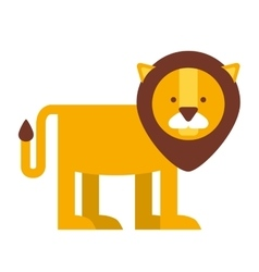 cute lion isolated icon design vector image vector image