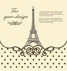 Eiffel tower paris hand drawn vector