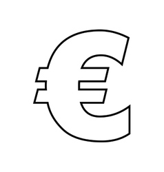 euro symbol isolated icon design vector image