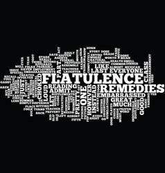 flatulence remedies text background word cloud vector image vector image