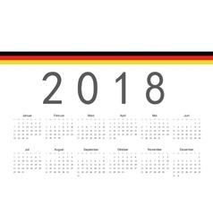 German 2018 year calendar vector