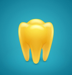Gold human teeth vector