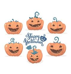halloween of collection decorative orange pu vector image vector image