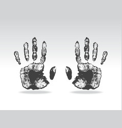 Hand prints vector image vector image