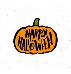 Happy Halloween vintage banner with typography vector image vector image