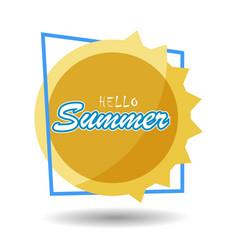 Hello summer 6 vector