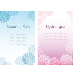 Hydrangea frame 3 vector