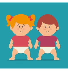 Kids cartoon design vector image