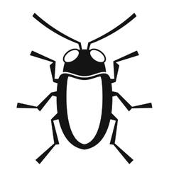 Longhorn beetle grammoptera icon simple style vector